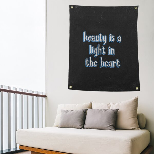 East Urban Home Polyester Beauty Quote Chalkboard Tapestry Wayfair