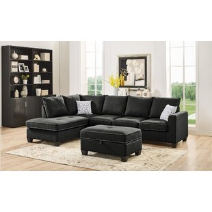 Mercurio Reversible Sectional with Ottoman