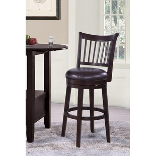 Fallon Wood Swivel Bar Stool by Charlton Home