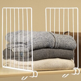 Wire Closet Shelf Divider (Set of 4) ByMiles Kimball