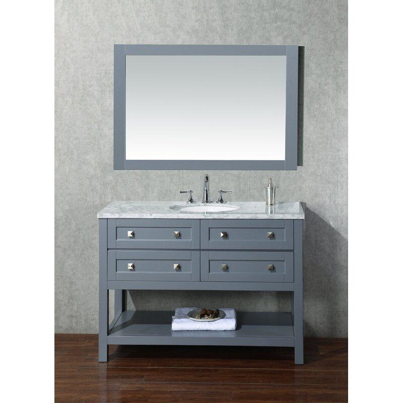 Single Modern Bathroom Vanity Set