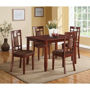 Bartsch 5 Piece Solid Wood Dining Set by Charlton Home Today Sale Onlyt