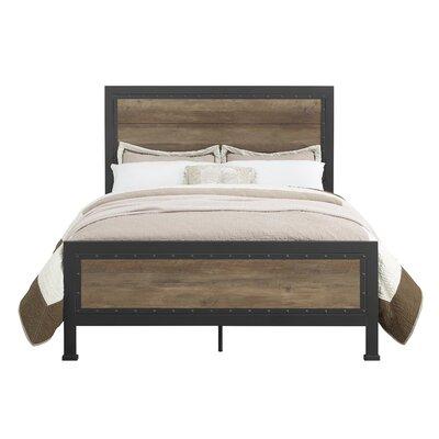Laurel Foundry Modern Farmhouse Berta Industrial Queen Panel Bed Color: Reclaimed Barnwood