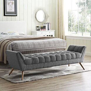 Freeborn Upholstered Bench by Ivy Bronx