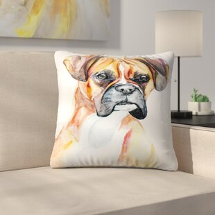 Fawn Boxer Throw Pillow