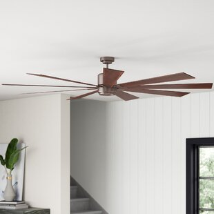 72 Mcdavid 9 Blade LED Ceiling Fan with Remote, Light Kit Included