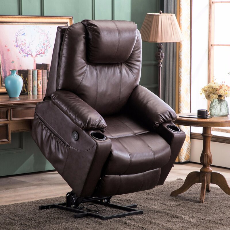 Red Barrel Studio Courtois Faux Leather Power Lift Assist Recliner With Massage Reviews Wayfair Ca