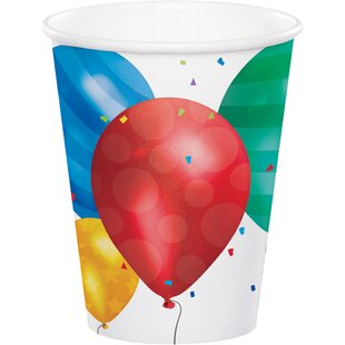 Balloon Blast Paper Disposable Cup (Set of 24)