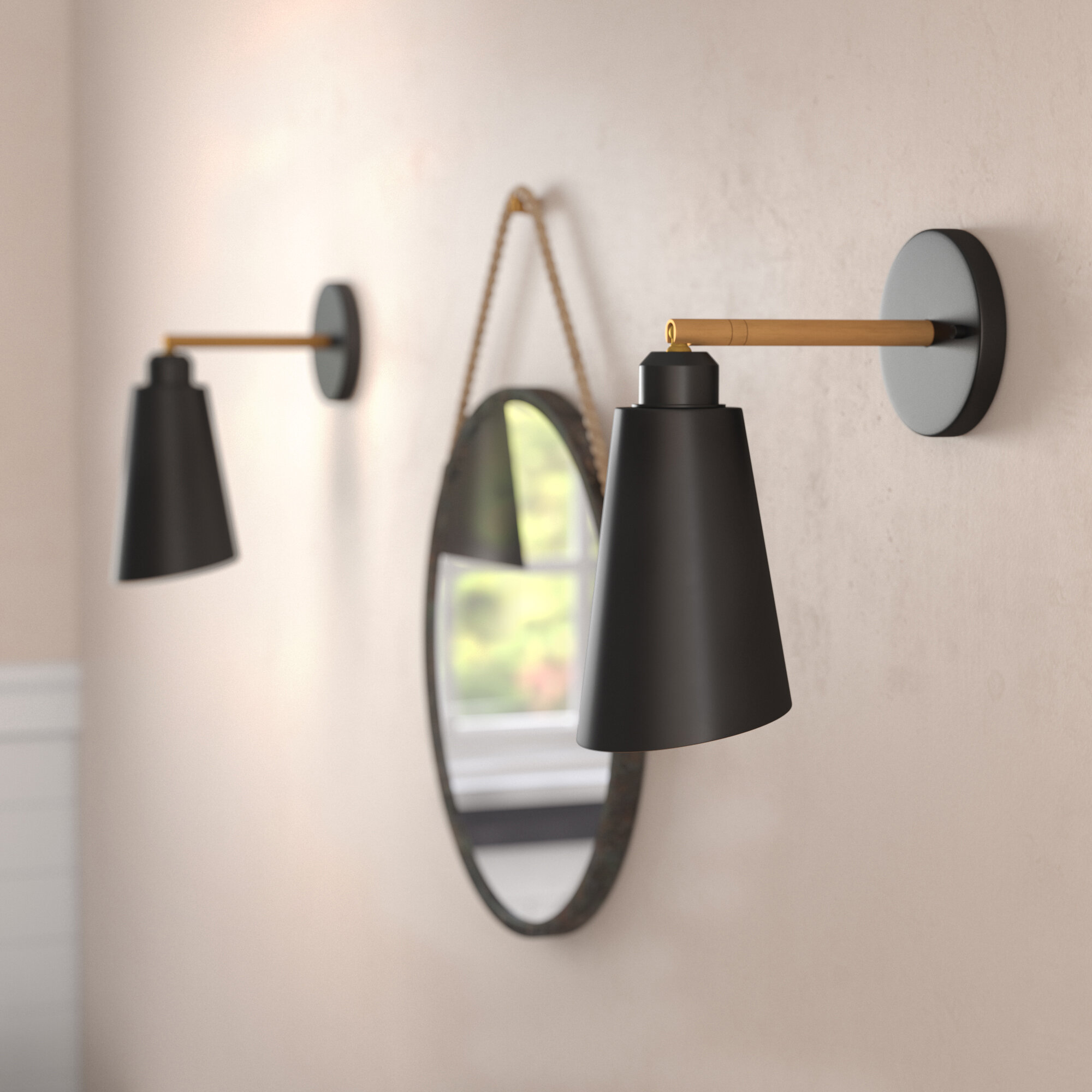 buy online fc122 f98fc Bedroom Wall Sconces | Wayfair