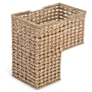 Braided Rope Storage Stair Basket With Handles