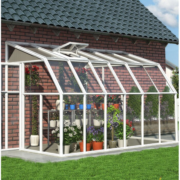 Rion 6 5 Ft W x 12 5 Ft D Lean-to Greenhouse