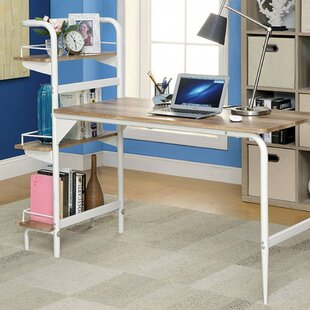 Snarr Contemporary Writing Desk With Bookcase by Latitude Run Amazing