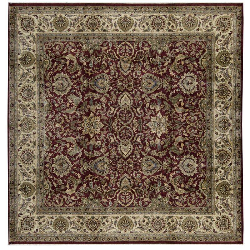 Bokara Rug Co., Inc. One-of-a-Kind 1014 Sona Square 101 Wool Beige/Red Area Rug