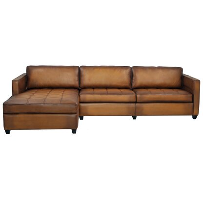 Daisey Leather Sectional
