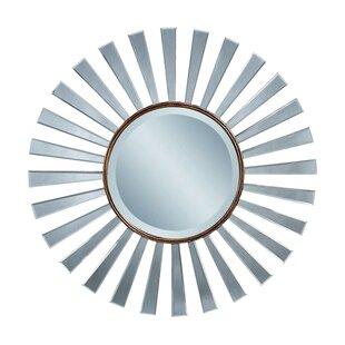 Brayden Studio Sunburst Vintage Bronze Wall Mirror