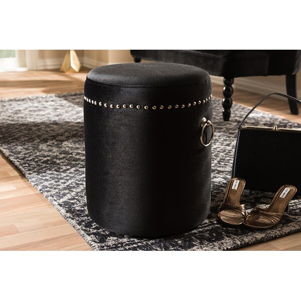 Marvelous Round Nailhead Ottoman Wayfair Gmtry Best Dining Table And Chair Ideas Images Gmtryco