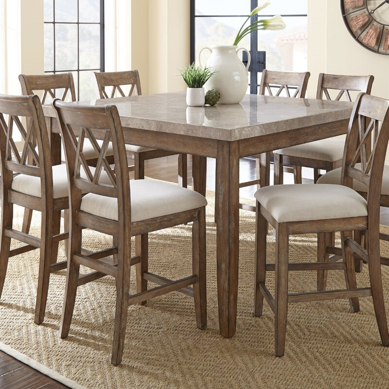 Lark Manor Portneuf Counter Height Dining Table & Reviews | Wayfair