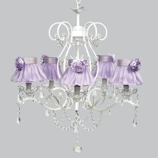 Purple shade chandeliers youll love grace 5 light shaded chandelier mozeypictures Gallery