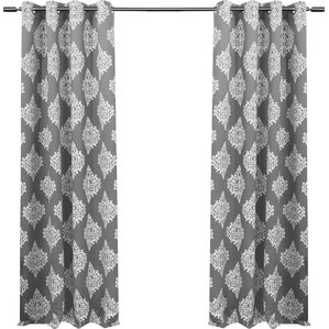 Damask Curtains Drapes Youll Love Wayfair