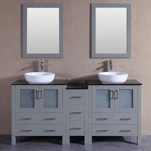 Danny 71 Double Bathroom Vanity Set with Mirror by Bosconi