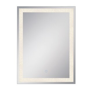 Best Reviews Stoehr Crystal Lit Bathroom / Vanity Mirror By Orren Ellis