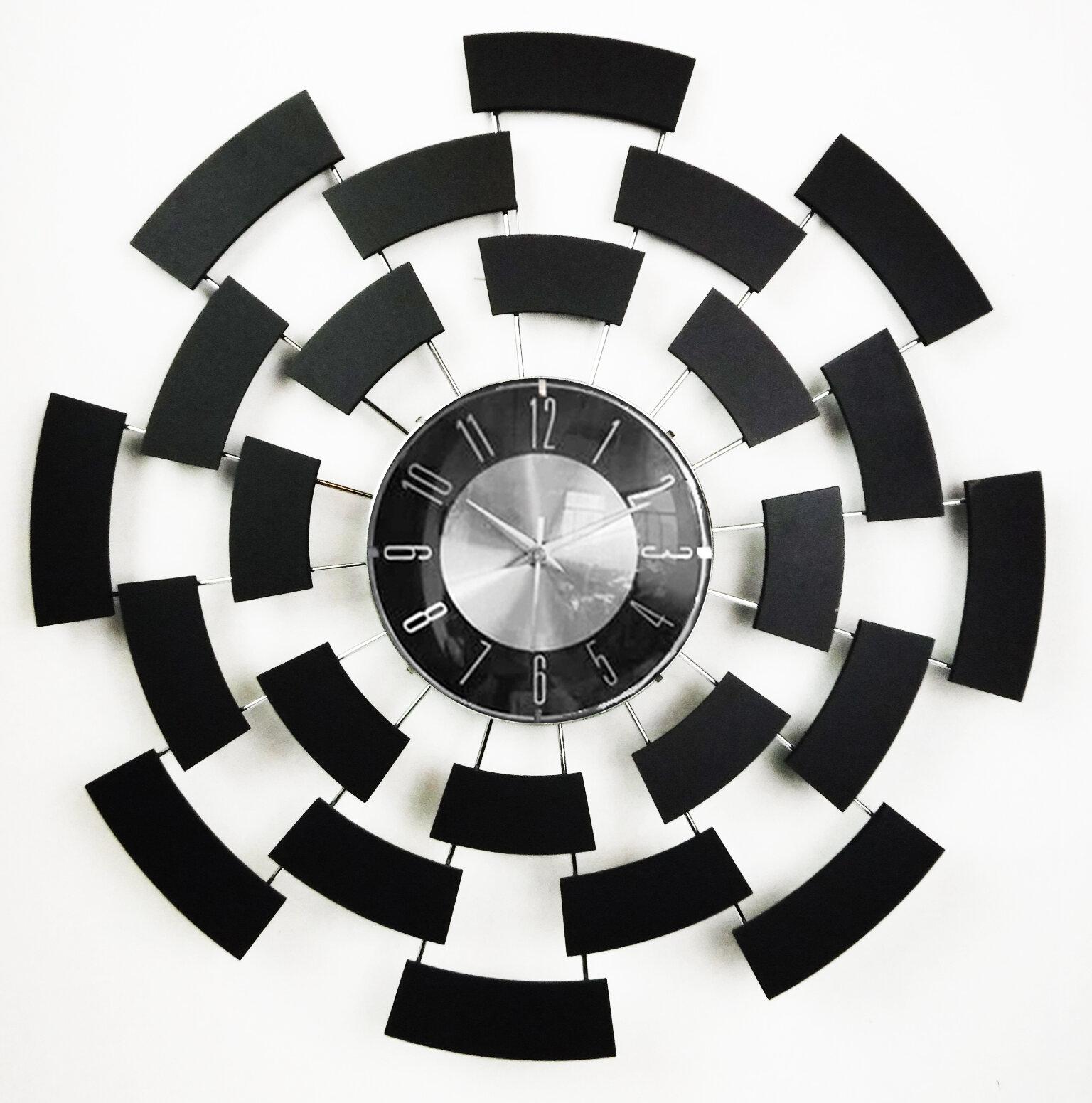 Image of: Mid Century Decor Geometry Wall Clock Reviews Wayfair