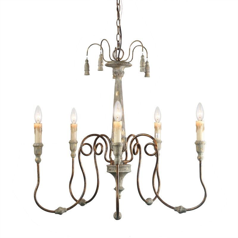 Ophelia Co Gratton 6 Light Candle Style Classic Traditional Chandelier Wayfair
