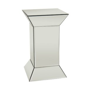 Delacruz Glass Mirrored End Table