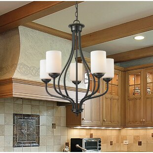 Online Reviews Weatherly 5-Light Shaded Chandelier By Charlton Home