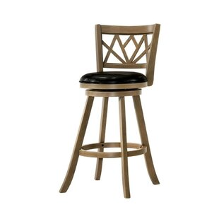 Mose Wooden 29 Bar Stool Ivy Bronx