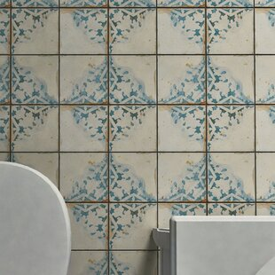 Blue White Cream Tile Youll Love Wayfair - Blue-ceramic-bathroom-tile