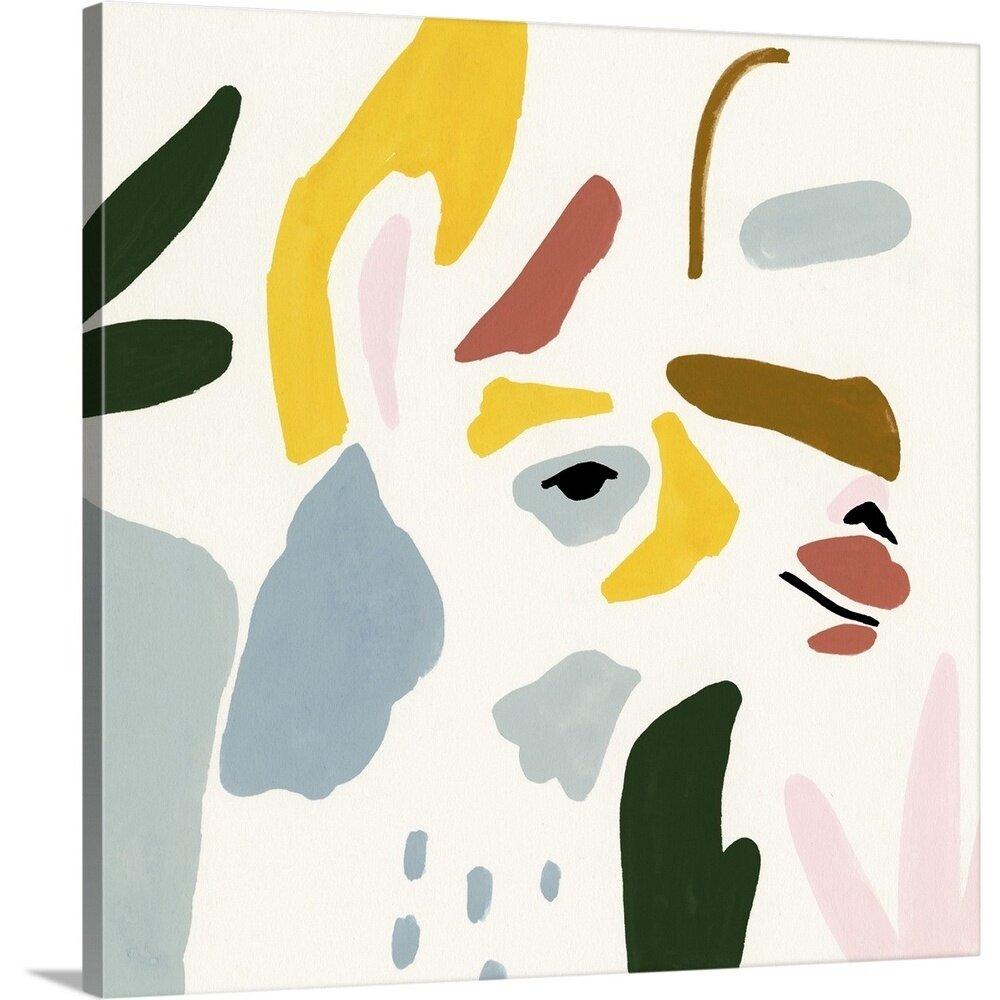 Novogratz Color Block Llama Iii Framed Painting Print Wayfair