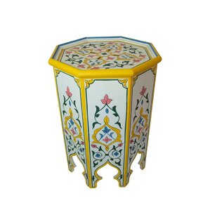 Meknes Hand-painted Side Table by Casablanca..