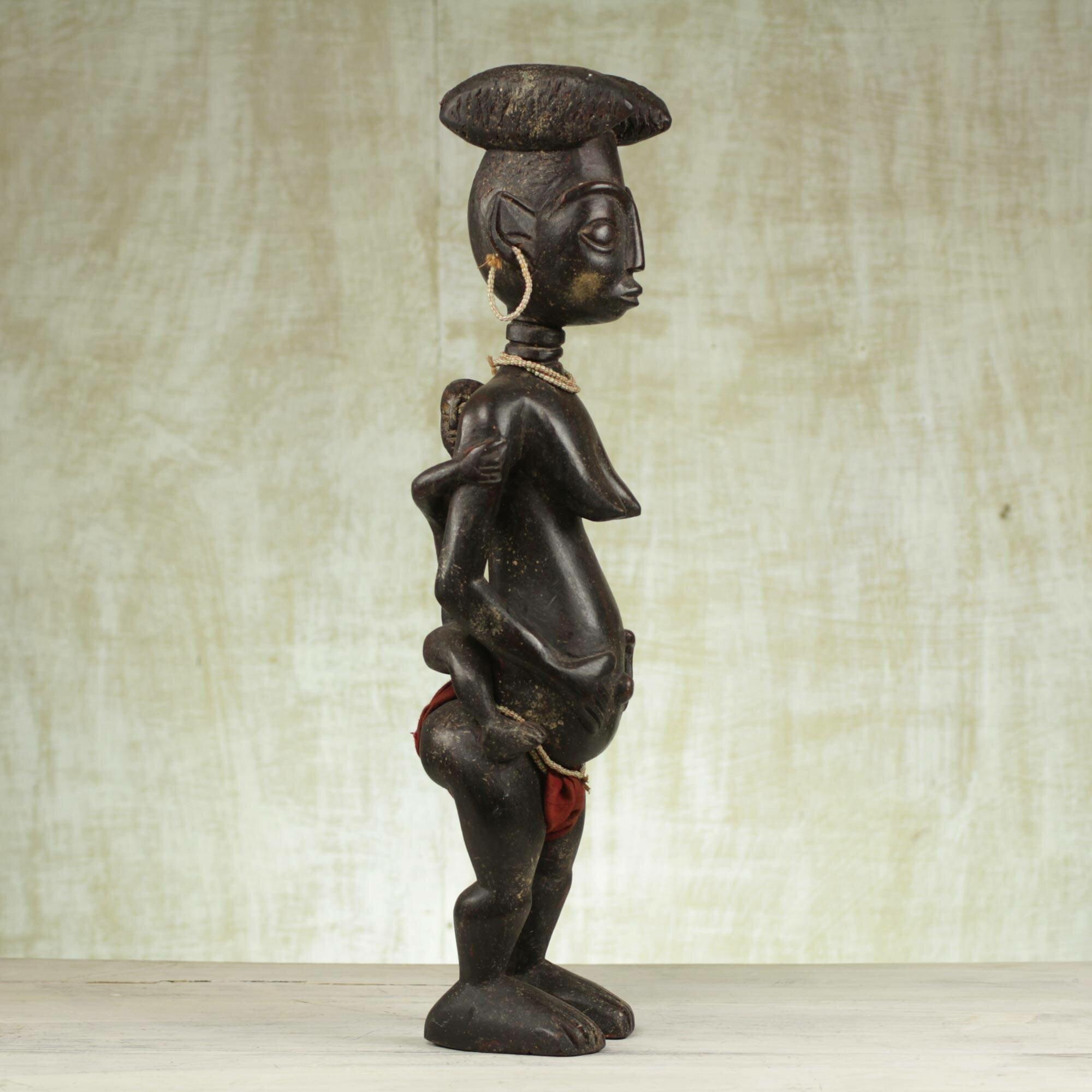 World Menagerie Idlewood Yoodi Wood Statue Wayfair