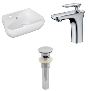 Looking for Ceramic 17.5 Bathroom Sink with Faucet and Overflow ByRoyal Purple Bath Kitchen