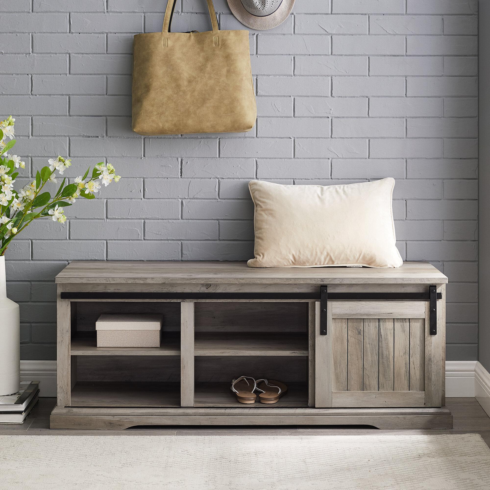 Gracie Oaks Shreffler Shoe Storage Bench Reviews Wayfair