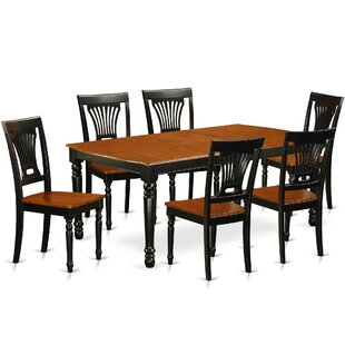 Pimentel 7 Piece Solid Wood Dining Set by August Grove 2019 Sale