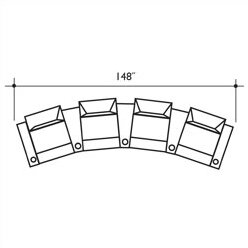 St Tropez Home Theater Row Seating Row of 4