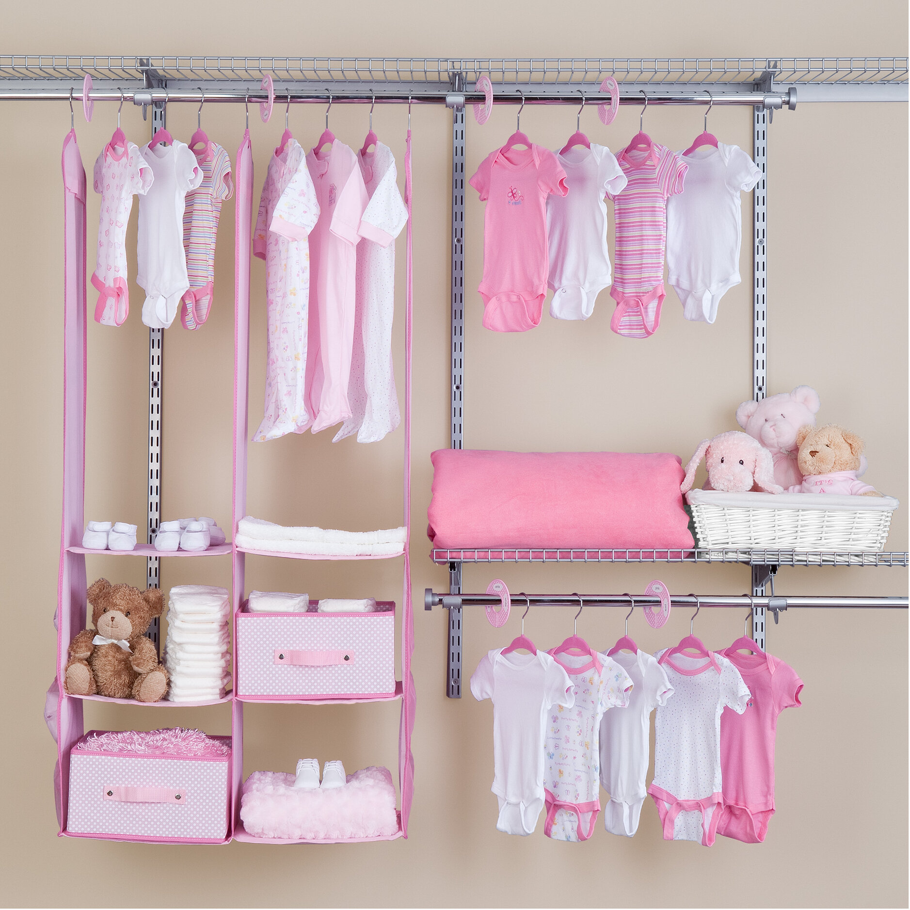 Delta Children Deep Nursery Closet Organizer 24 Piece Set Reviews Wayfair