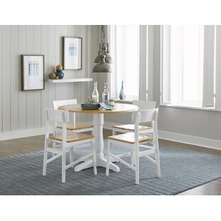 Finley Round 5 Piece Drop Leaf Dining Set Beachcrest Home
