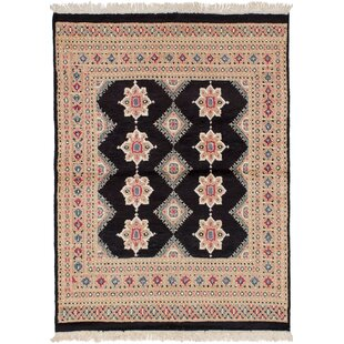 Buy luxury One-of-a-Kind Do Hand-Knotted Wool Black Area Rug By Isabelline