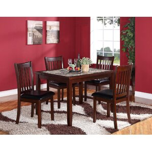 Zoho 5 Piece Dining Set by Roundhill Furn..