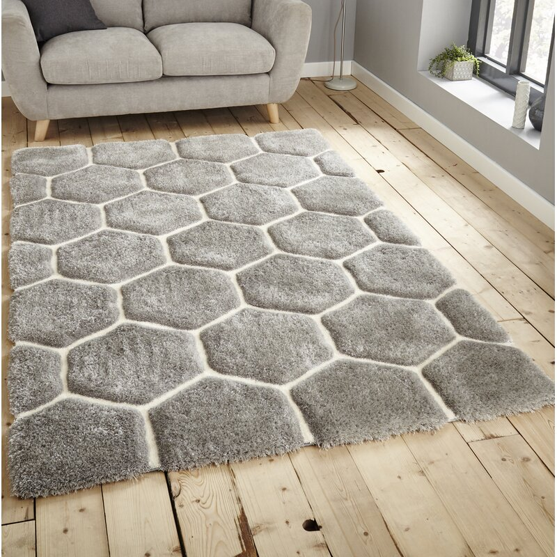 17 Stories Mindy Hand Tufted Grey White Area Rug Amp Reviews