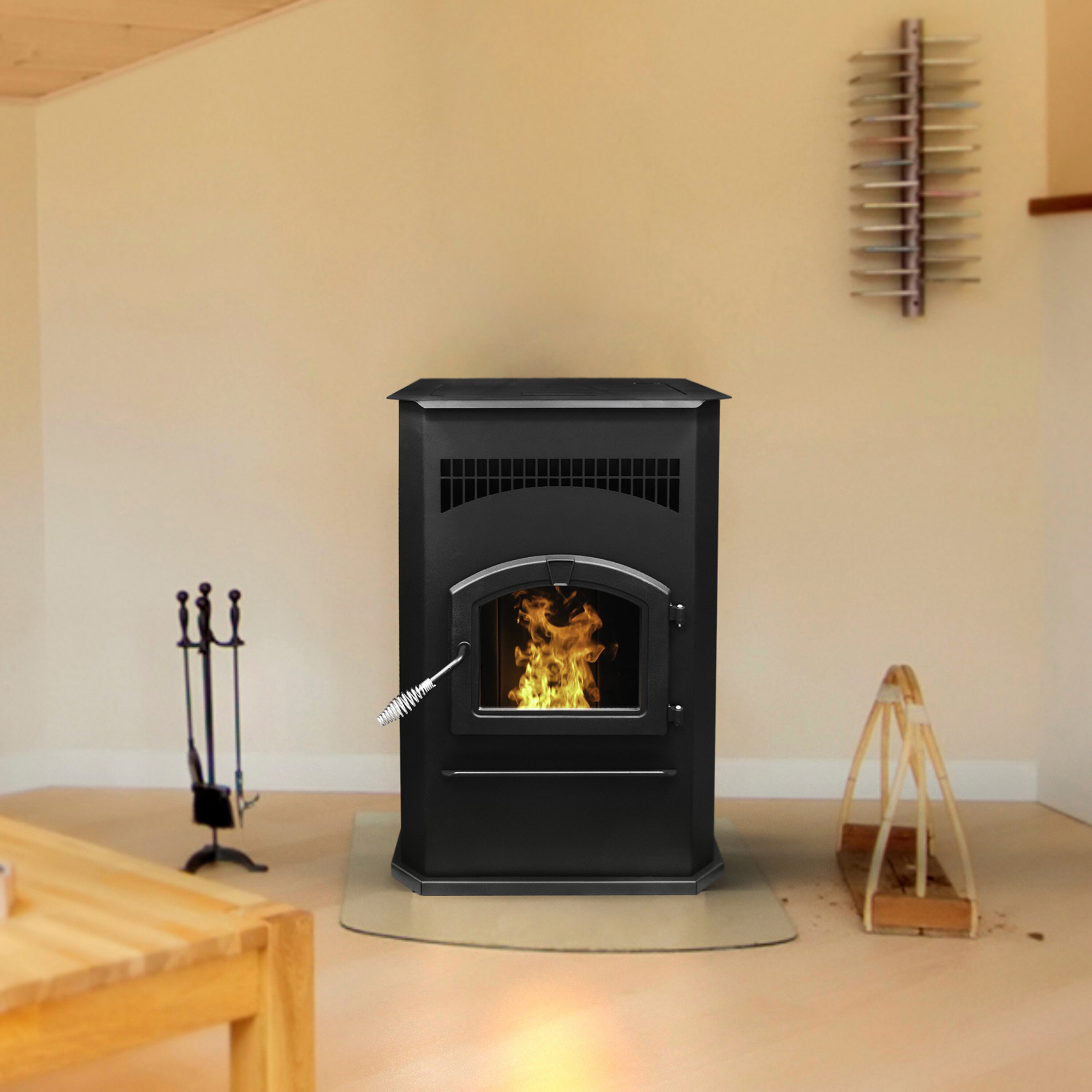 Pleasant Hearth 2200 Sq Ft Freestanding Pellets Stove With Blower Wayfair