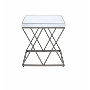 Kearney Modern Mirrored End Table by Mercer41