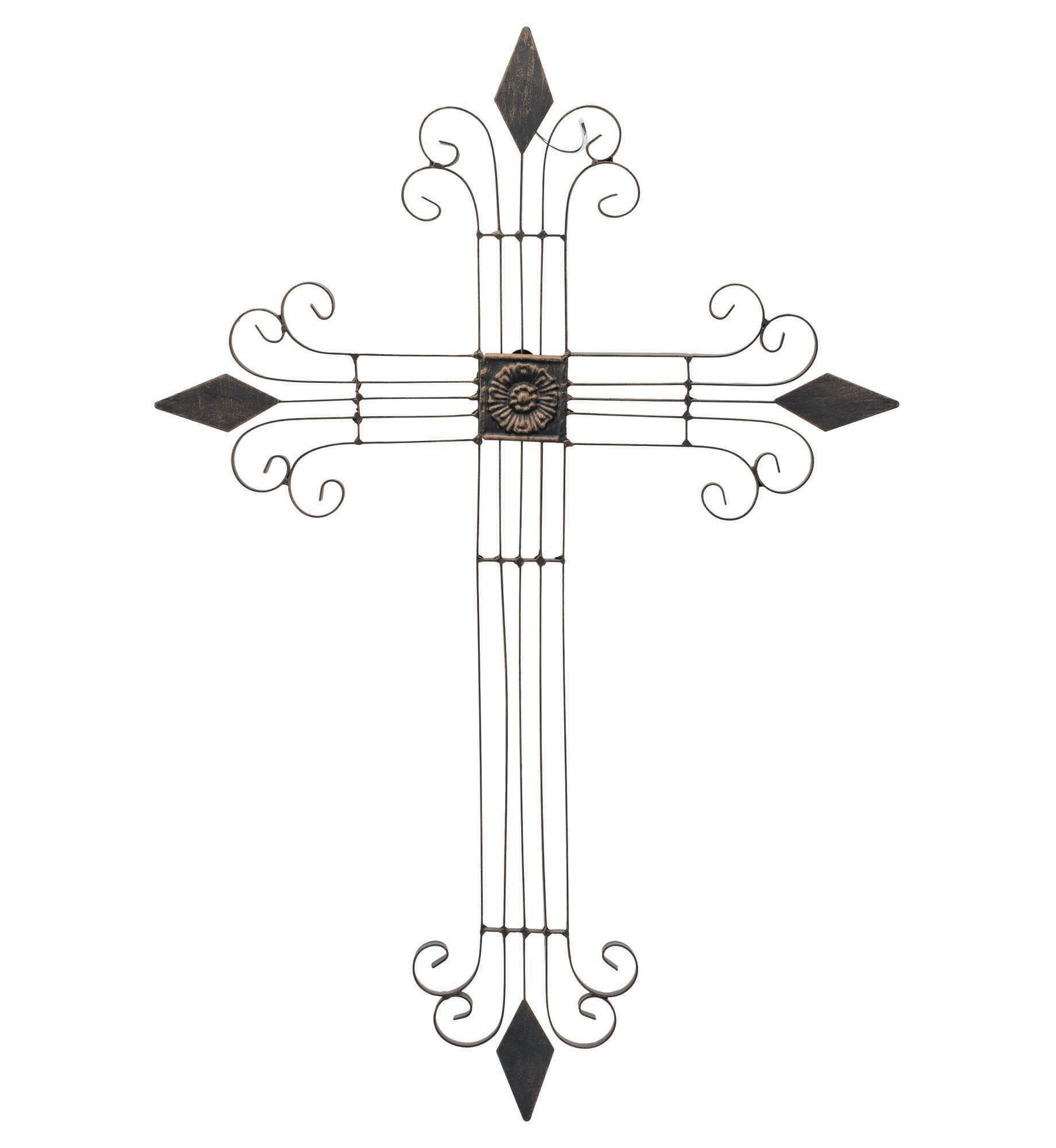 Metal Cross Wall Decor