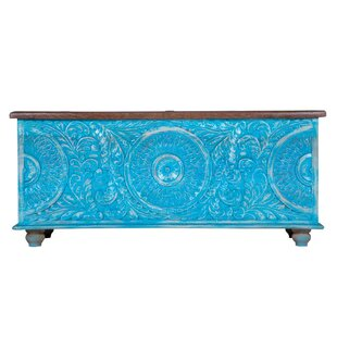 Top Reviews Kasson Distressed Trunk By Bloomsbury Market