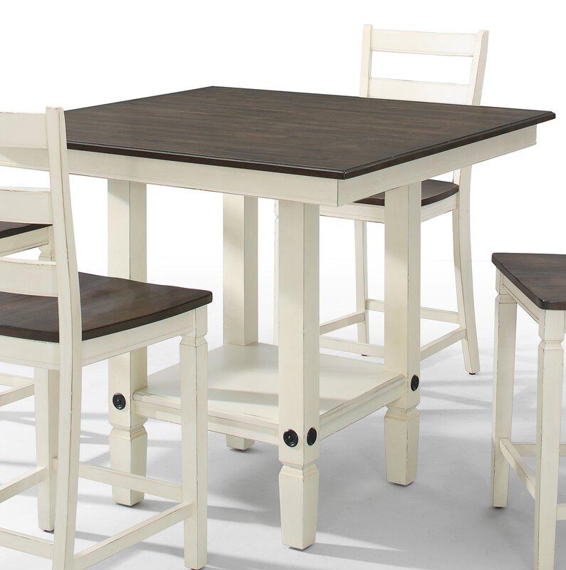 gracie oaks marchan square pub table & reviews   wayfair