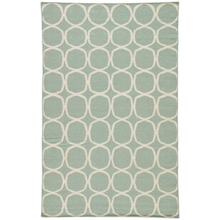 Calamus Hand-Woven Aqua Foam Area Rug By Willa Arlo Interiors