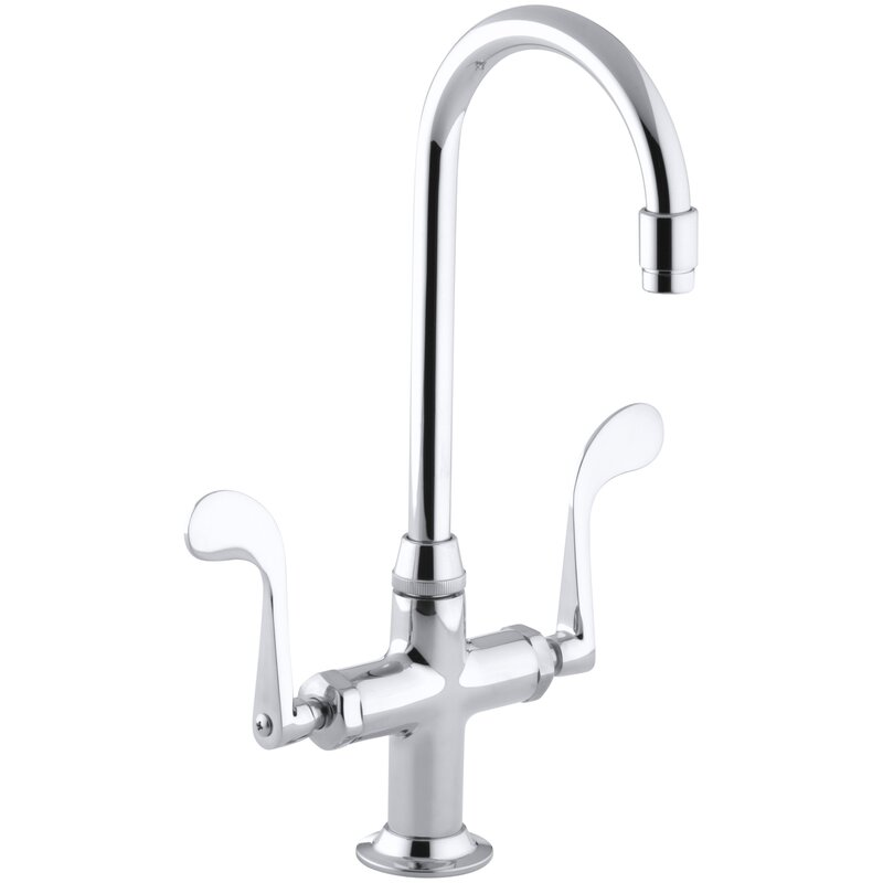 Attirant Essex Double Handle Kitchen Faucet With Wristblade Handles